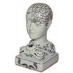 Phrenology Head Bust Ink Well - Occult