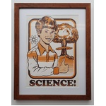 Say Yes To Science | Framed Art Print Steven Rhodes | Geek 1970s
