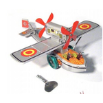 Propellor Plane Tin Toy | Wind Up | Collectable Retro