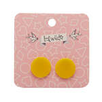 Circle Stud Earrings - Erstwilder - Resin - Yellow