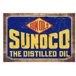 Sunoco Oil Tin Sign - Retro