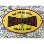 Champion Spark Plugs Cast Iron Sign  -Oval