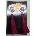 Polymer Earrings - Dangle - Floral Tassel