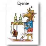 Horse Greeting Card - Eq-wine