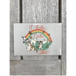I Like Cute Sh*t - Funny Fridge Magnet - Retro Humour