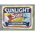 Sunlight Soap Tin Sign - Reproduction Vintage