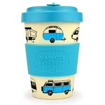 Bamboo Travel Mug - Caravan Hippy Days - 400ml - Van Go Collections