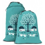 Expandable Laundry Bag - Summer Green Caravan