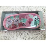 Sleep Eye Mask - Wise Wings Owl - Pink and Green