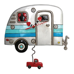 Happy Campers Caravan - Pendulum Clock - Michelle Allen Designs