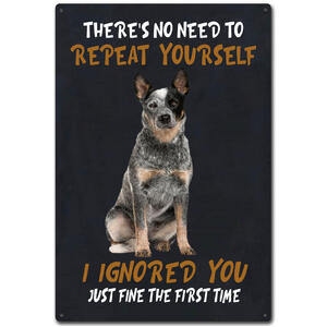 Blue Heeler Tin Sign