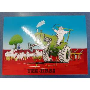 Greeting's Card - Australian Outback - Sheep Farm Tractor