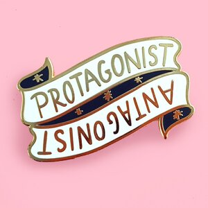 Protagonist / Antagonist Lapel Pin - Jubly-Umph Originals