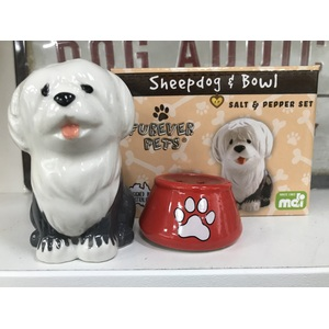 Sheepdog Salt and Pepper Shakers