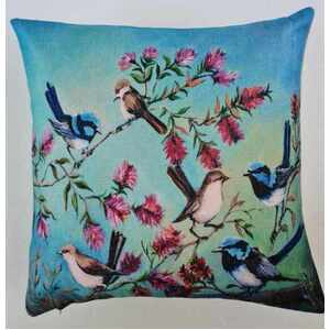 Blue Wren - Cushion Cover - 45cm